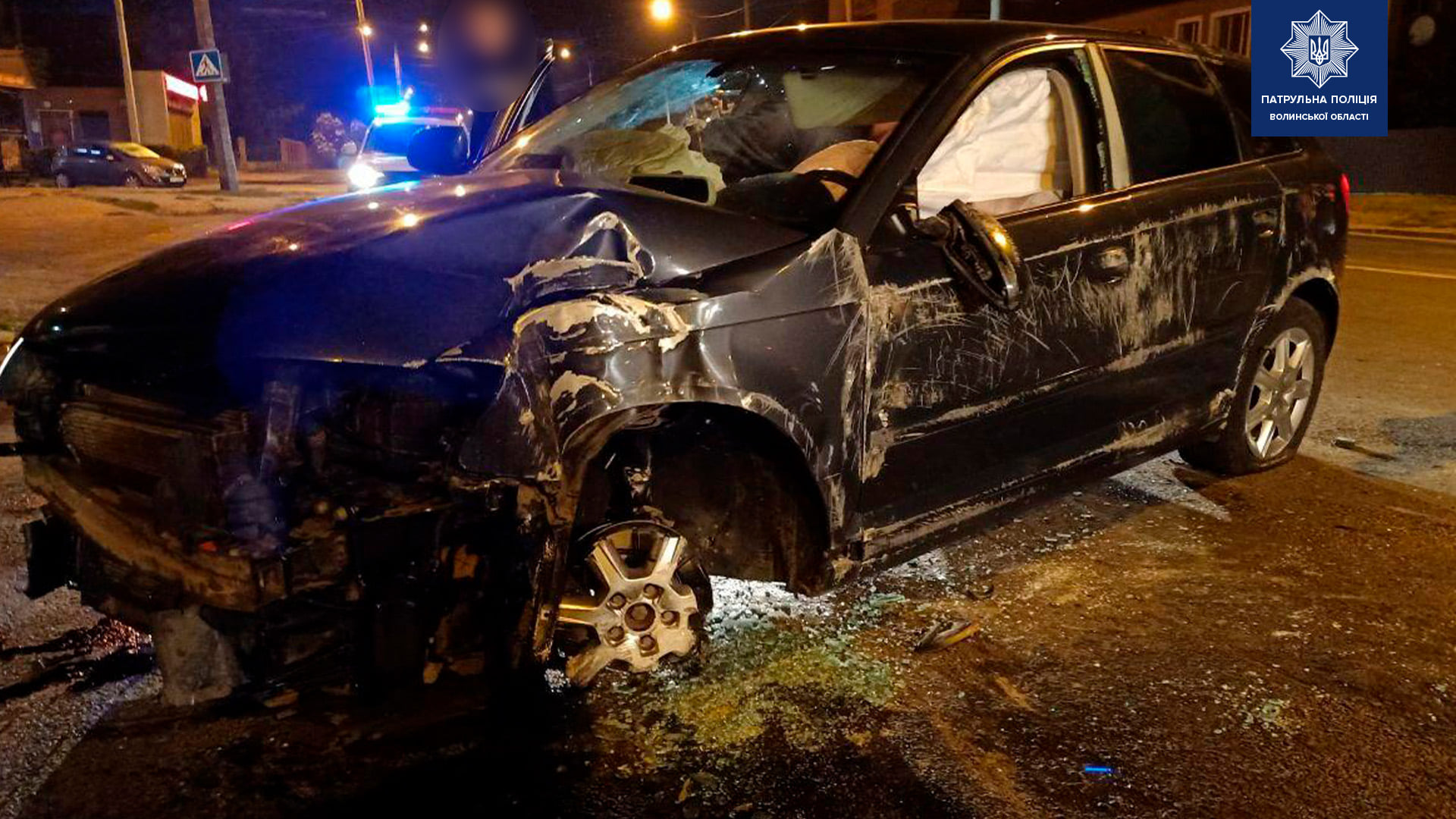 Нічна ДТП у Луцьку за участю неповнолітнього водія: патрульні склали три адміністративні матеріали