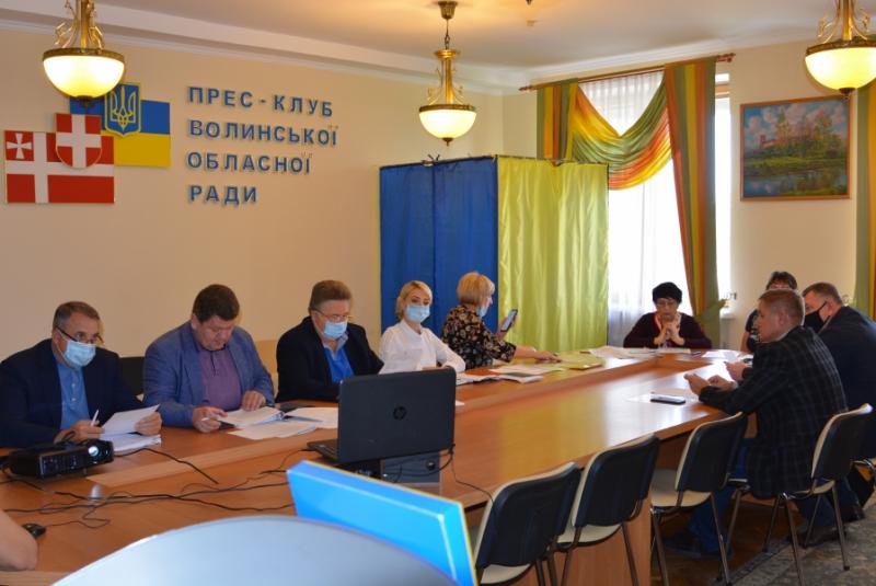 Депутати Волиньради погодили розподіл коштів на інфраструктурні проекти