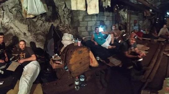 На Криворізькому залізорудному дев'яту добу страйкують гірники: під землею 257 осіб