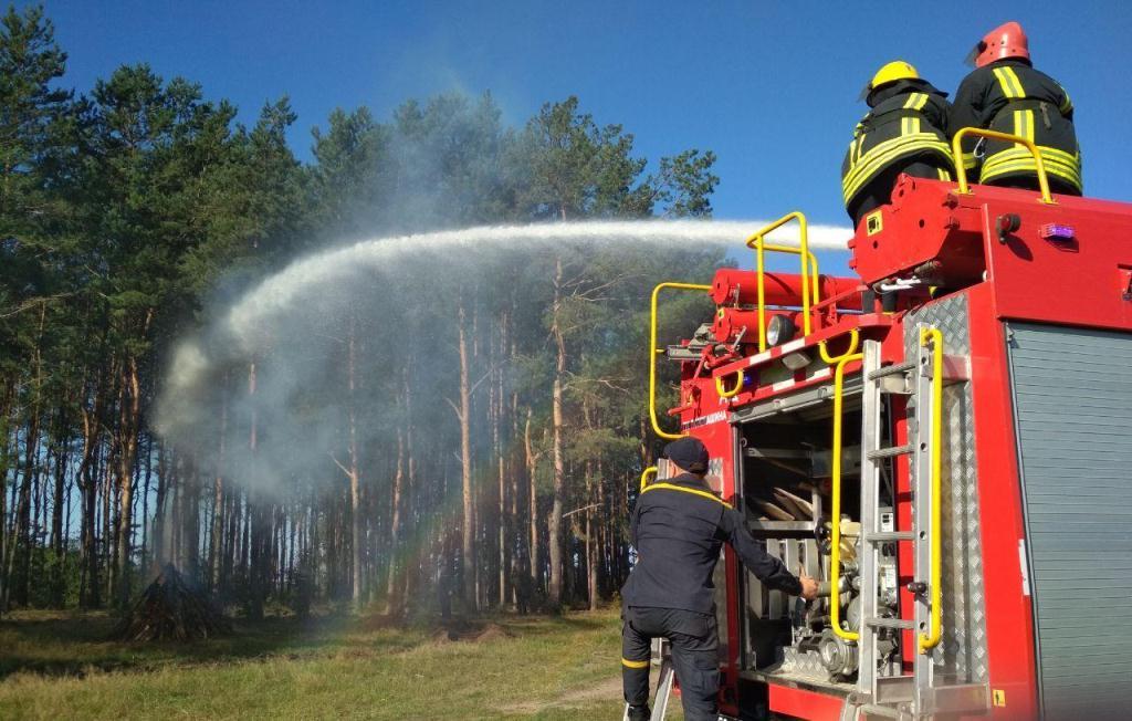 На Волині організували спільні навчання рятувальників та лісівників