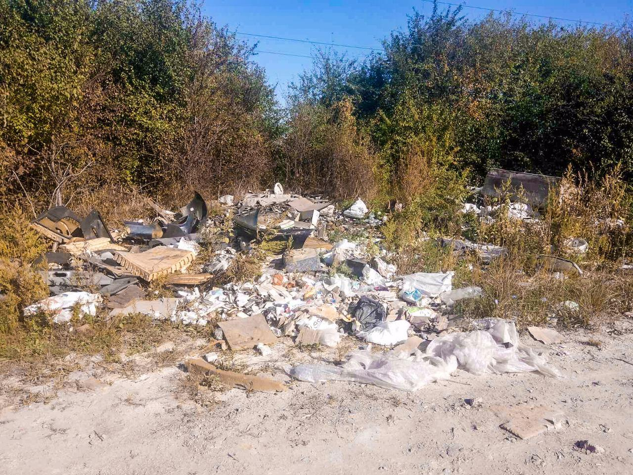 Поблизу Луцька виявили стихійне сміттєзвалище