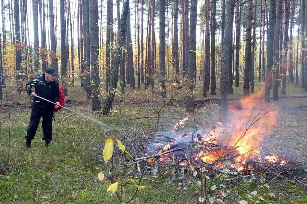 На Волині навчалися гасити лісові пожежі