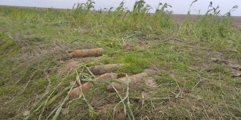 На Волині виявили міну та артилерійські снаряди часів Другої світової війни