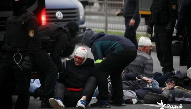 Понад 300 осіб затримали під час протестів у Мінську