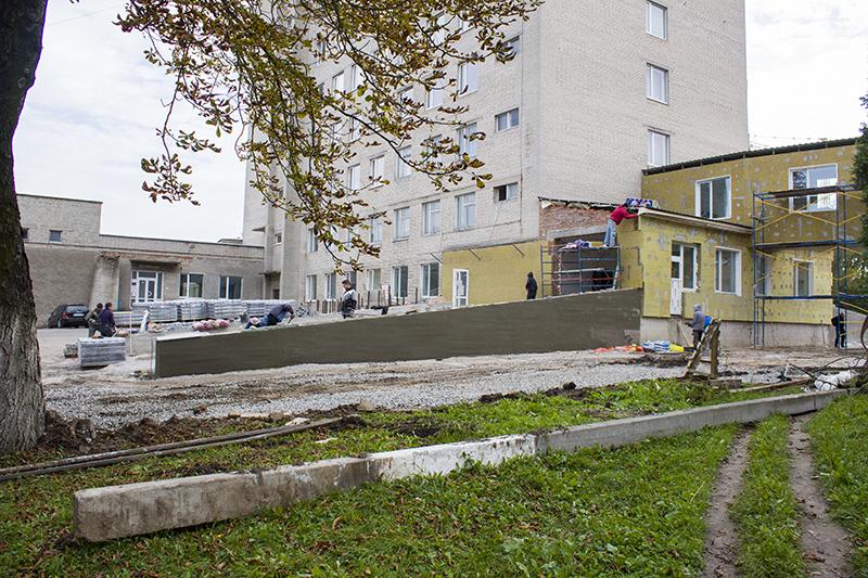 У Нововолинську завершують реконструкцію приймального відділення невідкладної екстреної медичної допомоги