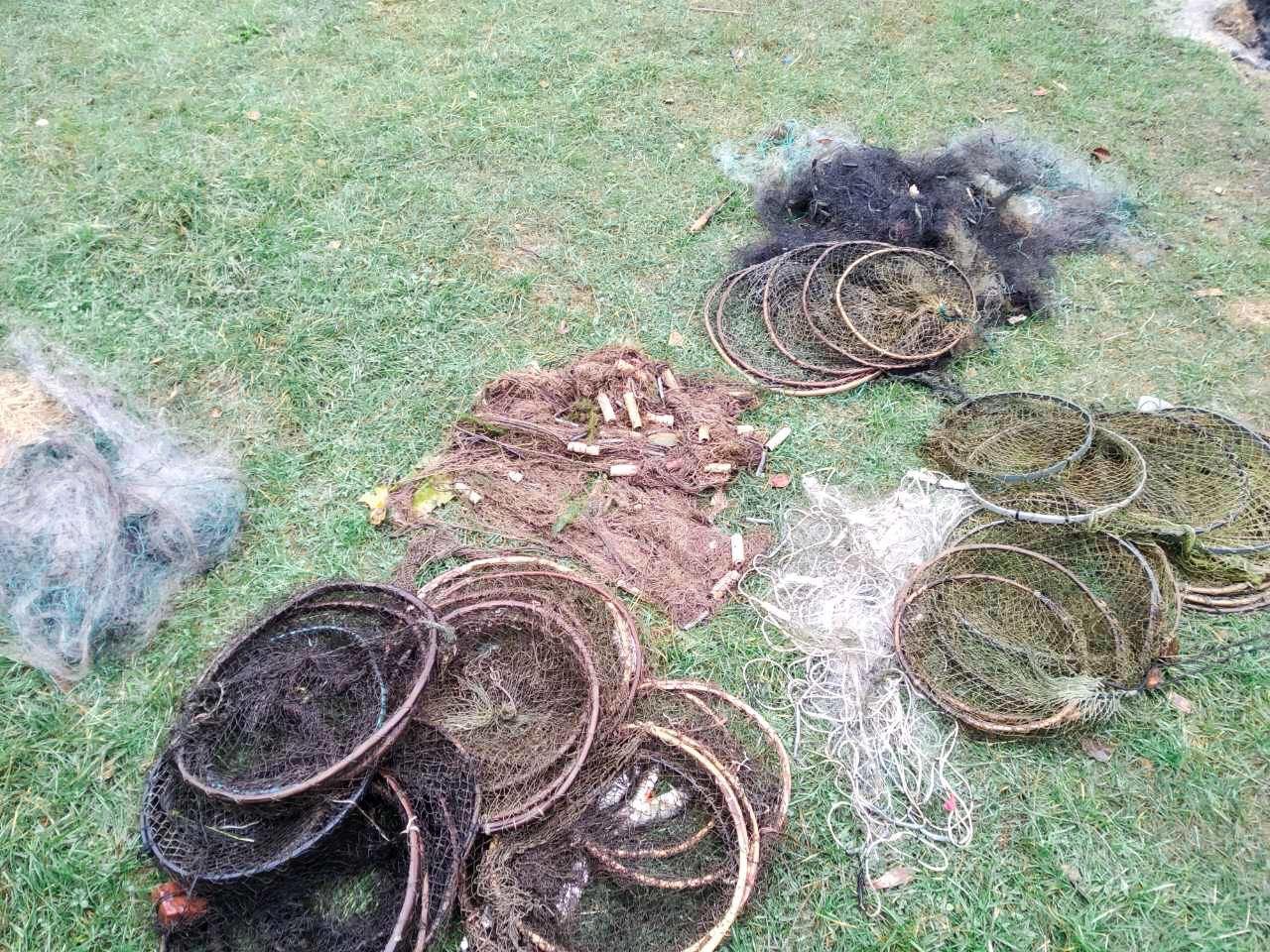 У районах на Волині екоінспектори виявили браконьєрські сітки
