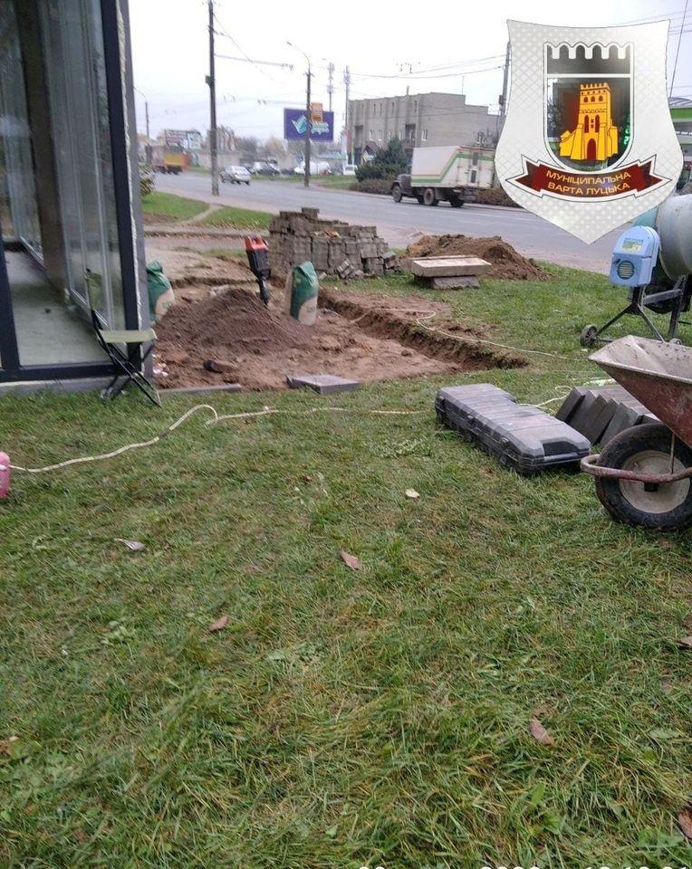 На вулиці Конякіна у Луцьку виявили самовільні земляні роботи