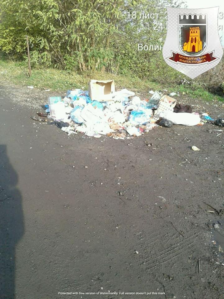Луцькі муніципали будуть виявляти осіб, які викидають сміття на узбіччя