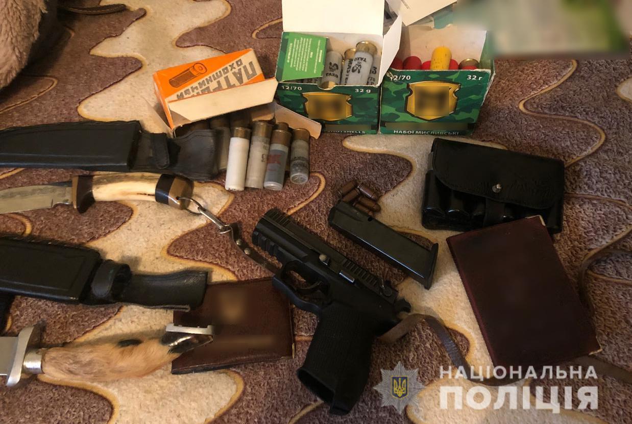 У лучанина вилучили зброю та боєприпаси