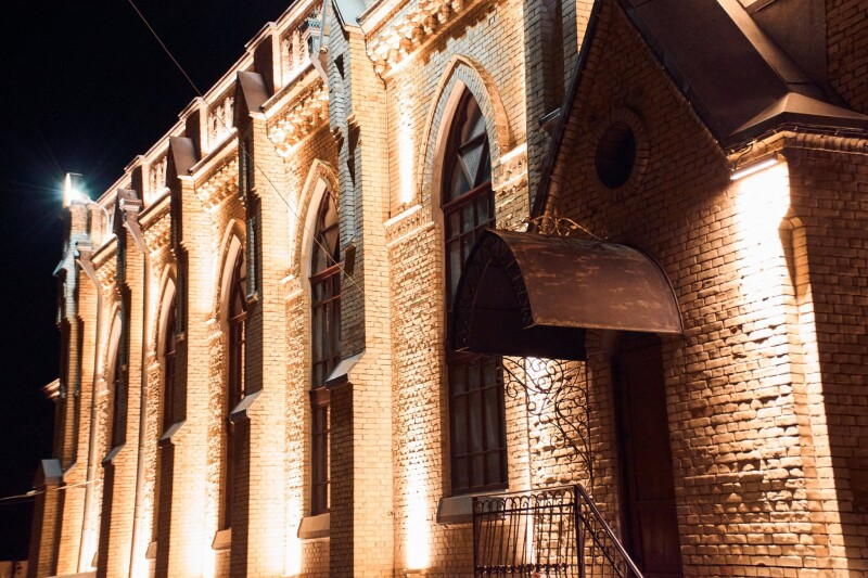 У Луцьку підсвітили лютеранську кірху