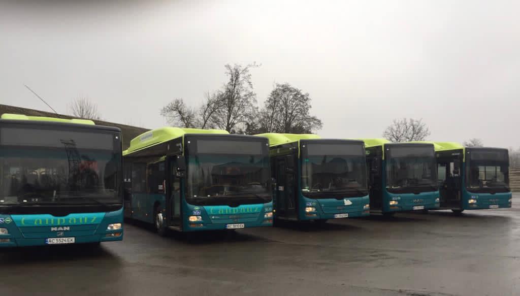 У Луцьку побільшає екологічних пасажирських автобусів
