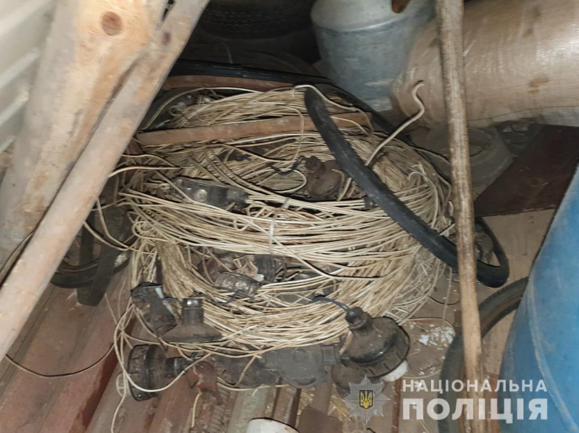 На Волині затримали викрадачів кабелю
