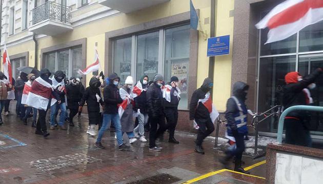 У Києві відбулася акція на підтримку народу Білорусі