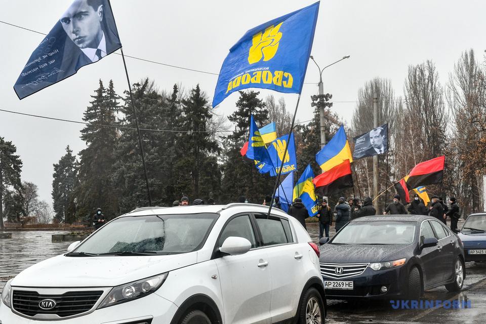 У Запоріжжі провели автопробіг на честь річниці з дня народження Бандери