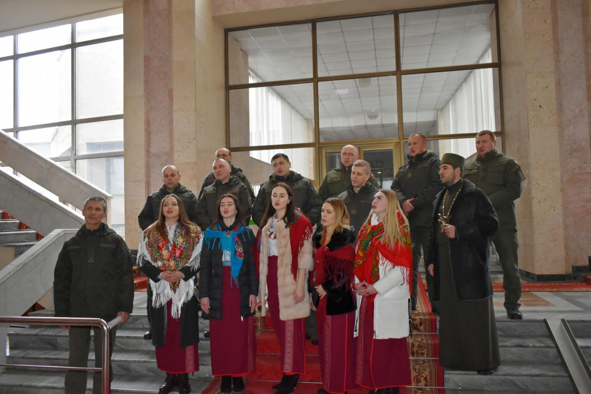 У Волинській ОДА колядував оркестр військової частини 1141 Національної гвардії України