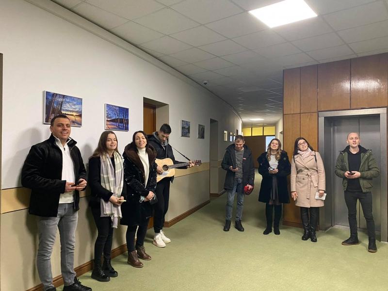 У Волиньраді колядували представники громади церкви «Сіон»