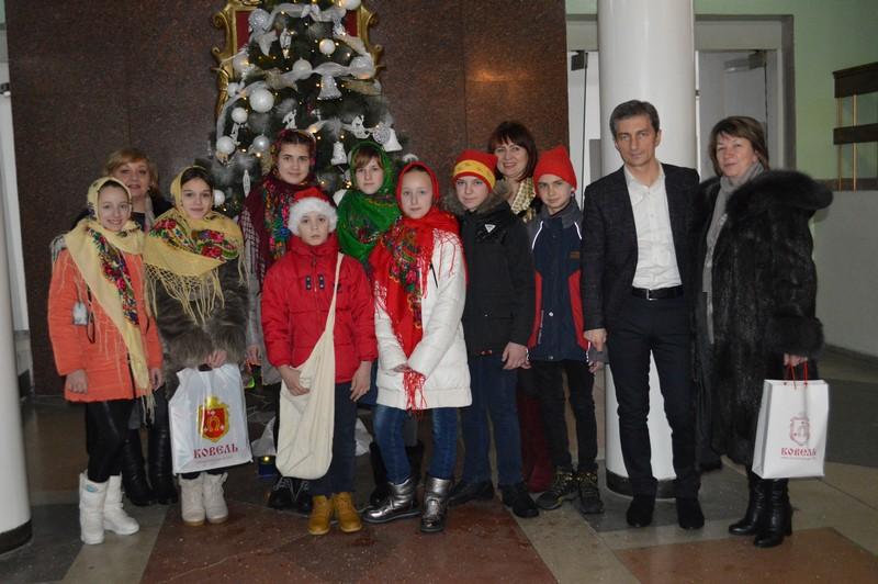 У Ковельській міськраді щедрували вихованці Волинського обласного центру соціально-психологічної реабілітації дітей