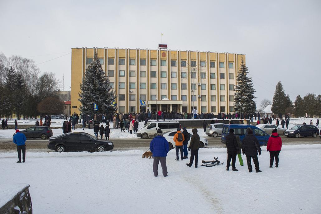 У Нововолинську відбулася акція проти підвищення тарифів