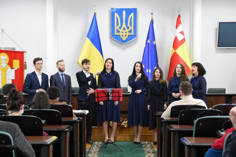 У Луцькраді колядували представники Церкви Адвентистів сьомого дня