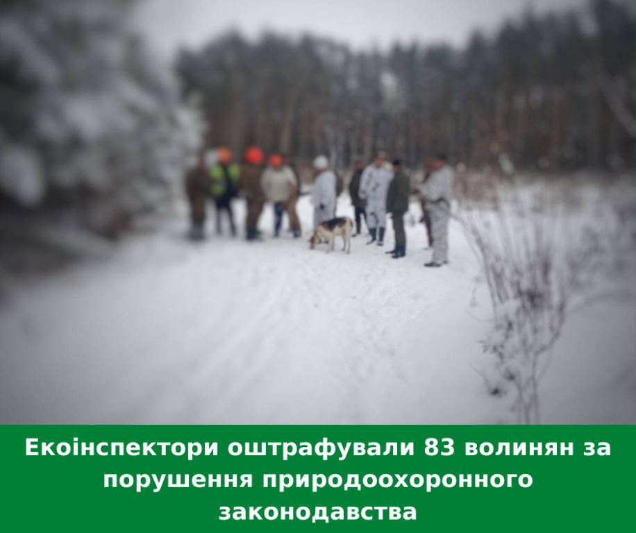Екоінспектори оштрафували 83 волинян за порушення природоохоронного законодавства