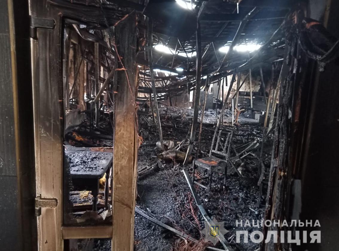 У Володимирі поліція з'ясовує обставини пожежі в розважальному закладі