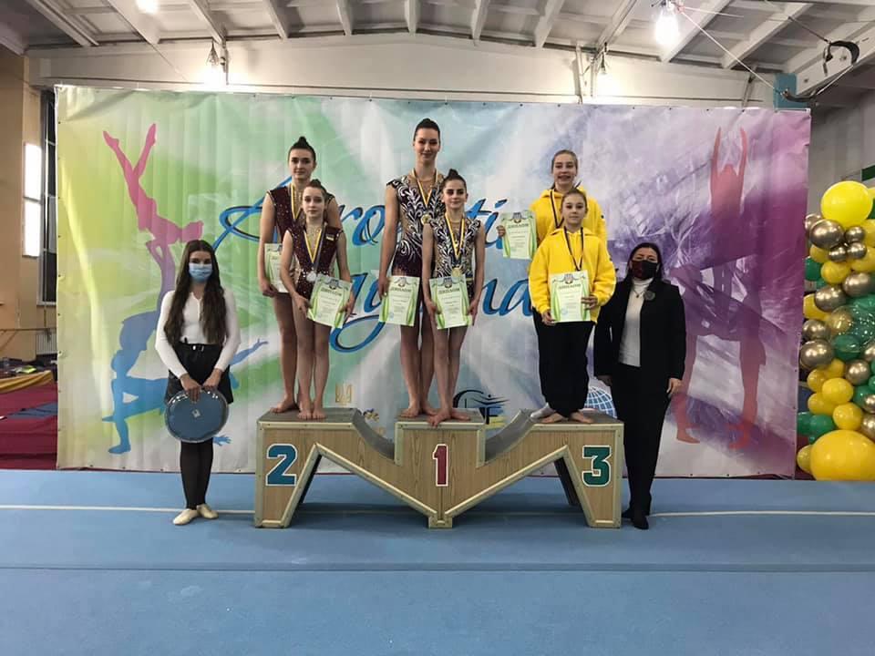 Волинянки здобули срібні медалі на чемпіонаті України зі спортивної акробатики
