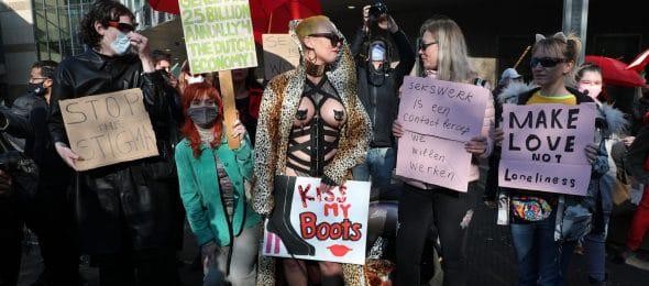 У Гаазі працівники секс-індустрії вийшли на протест проти обмеження їх роботи