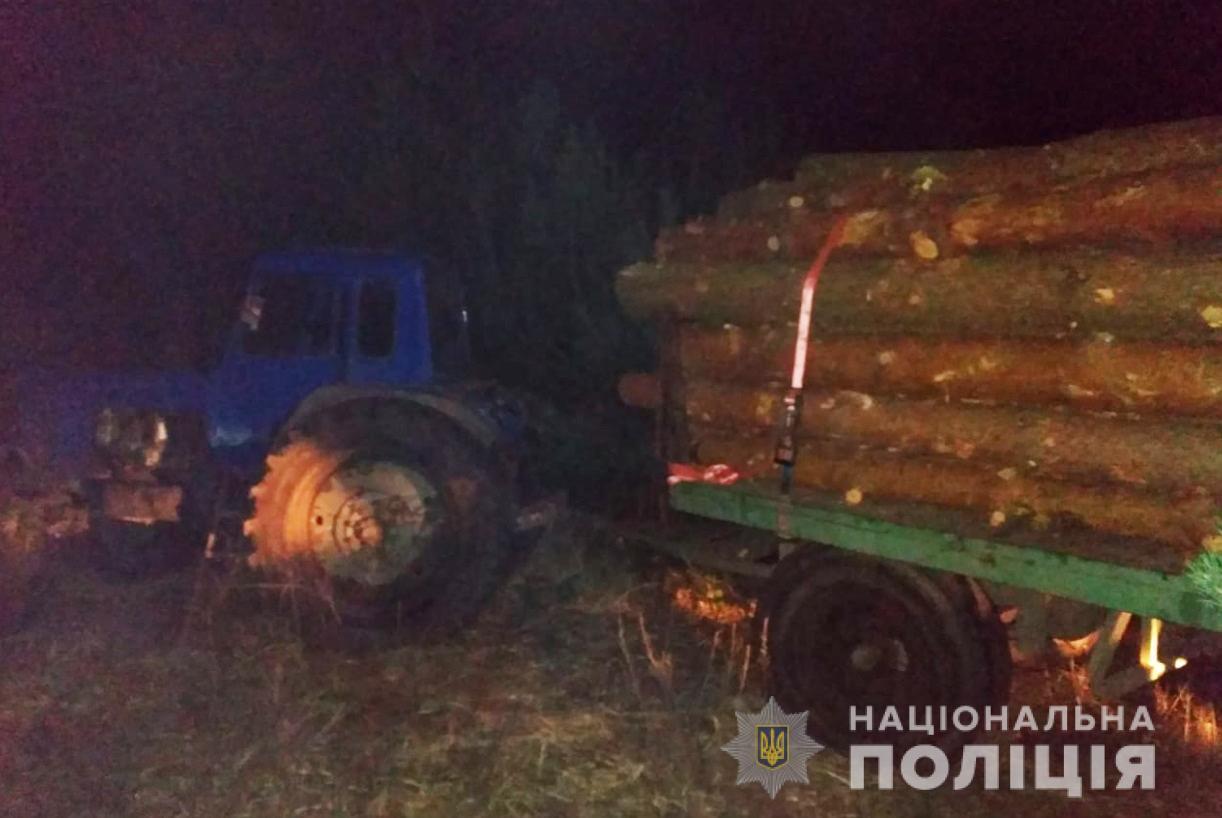 Вантажівка та трактор з деревиною: у Ковельському районі з'ясовують факт незаконної порубки лісу