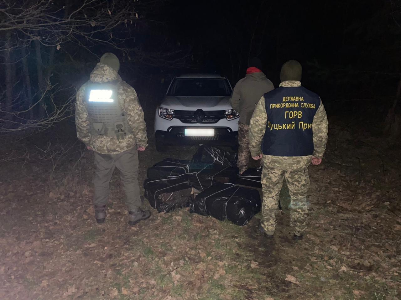 Волинянина з шести ящиками цигарок затримали прикордонники біля кордону з Білоруссю