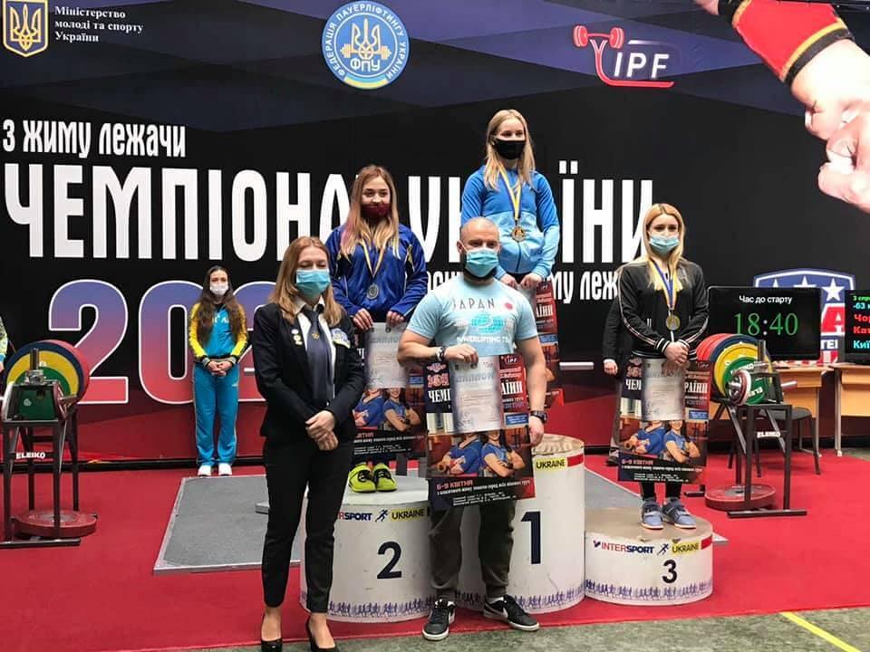Волиняни здобули шість медалей чемпіонату України з жиму лежачи