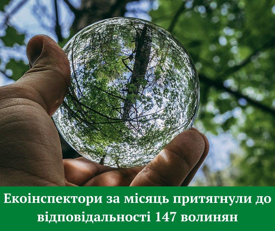 Екоінспектори за місяць притягнули до відповідальності 147 волинян