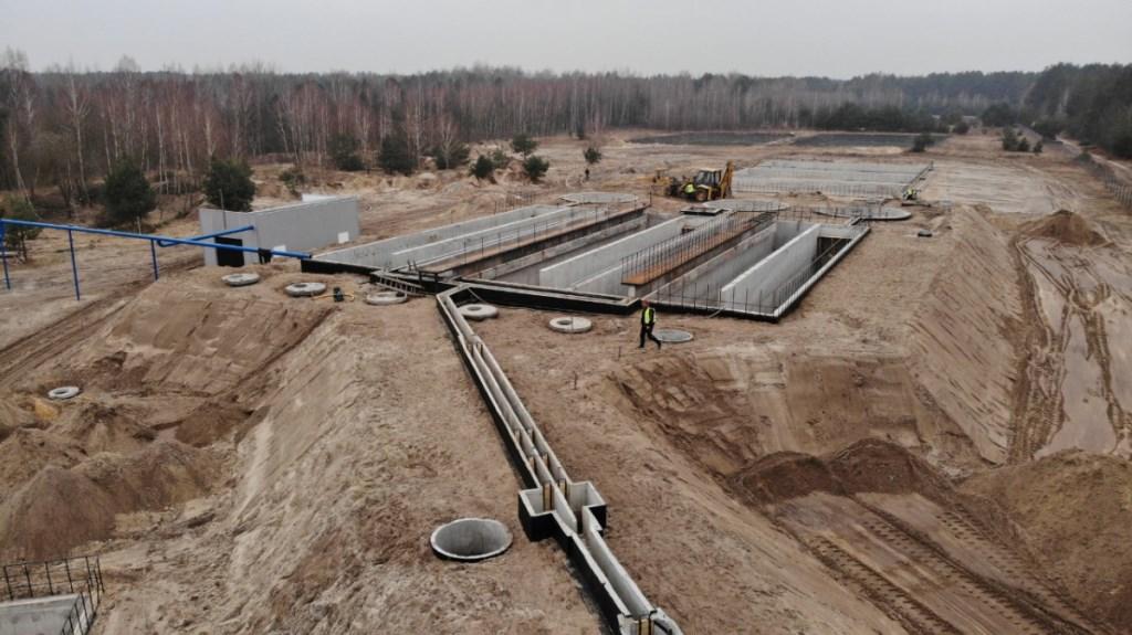 У селі Світязь триває будівництво каналізаційних очисних споруд