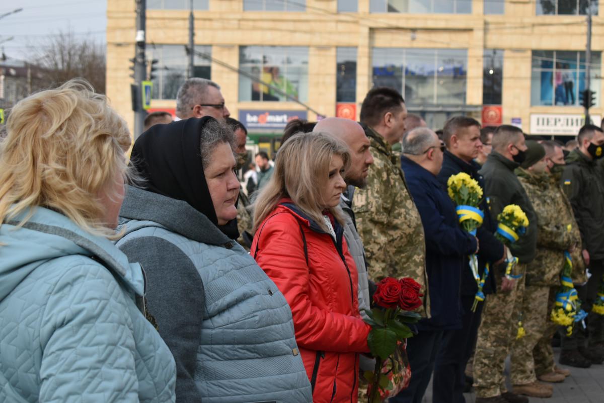 У Луцьку вшанували пам'ять загиблих у зоні АТО/ООС: у березні загинуло 9 військових