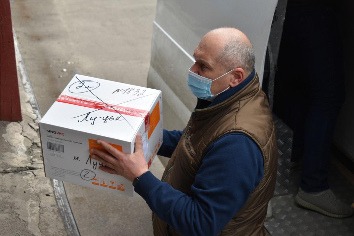 На Волинь прибула вакцина «CoronaVac» китайського виробника «Sinovac Biotech»