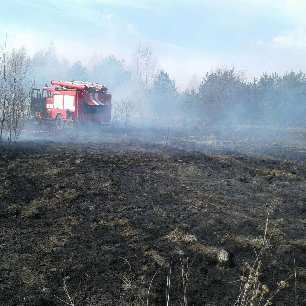 На Волині ліквідували сім пожеж на відкритих територіях