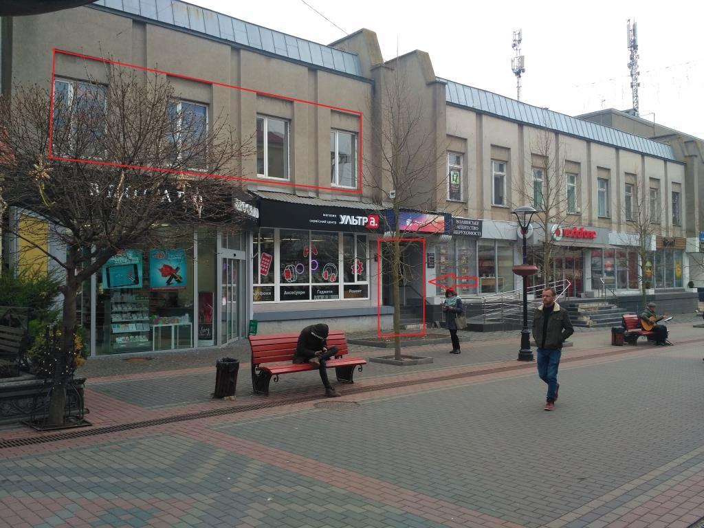 На головній пішохідній вулиці Луцька через аукціон визначать орендаря приміщення «Укртелекому»