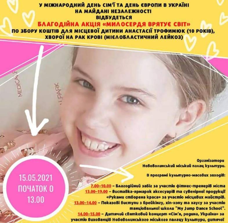 У Нововолинську організовують благодійну акцію «Милосердя врятує світ»