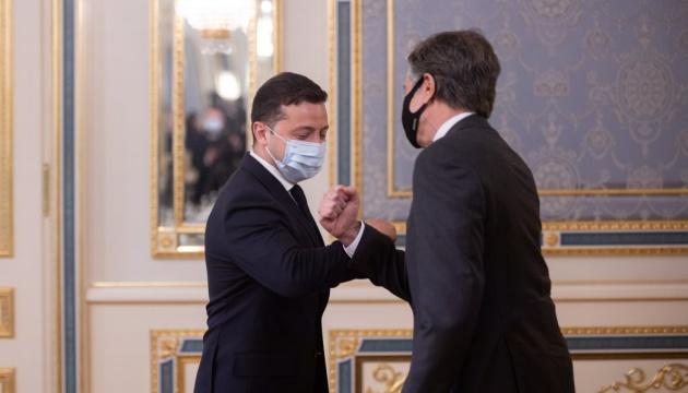 Зеленський зустрівся із держсекретарем США Блінкеном