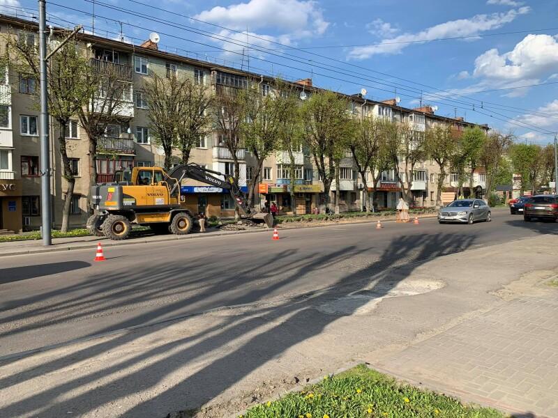 У Луцьку розпочали капітальний ремонт проспекту Волі