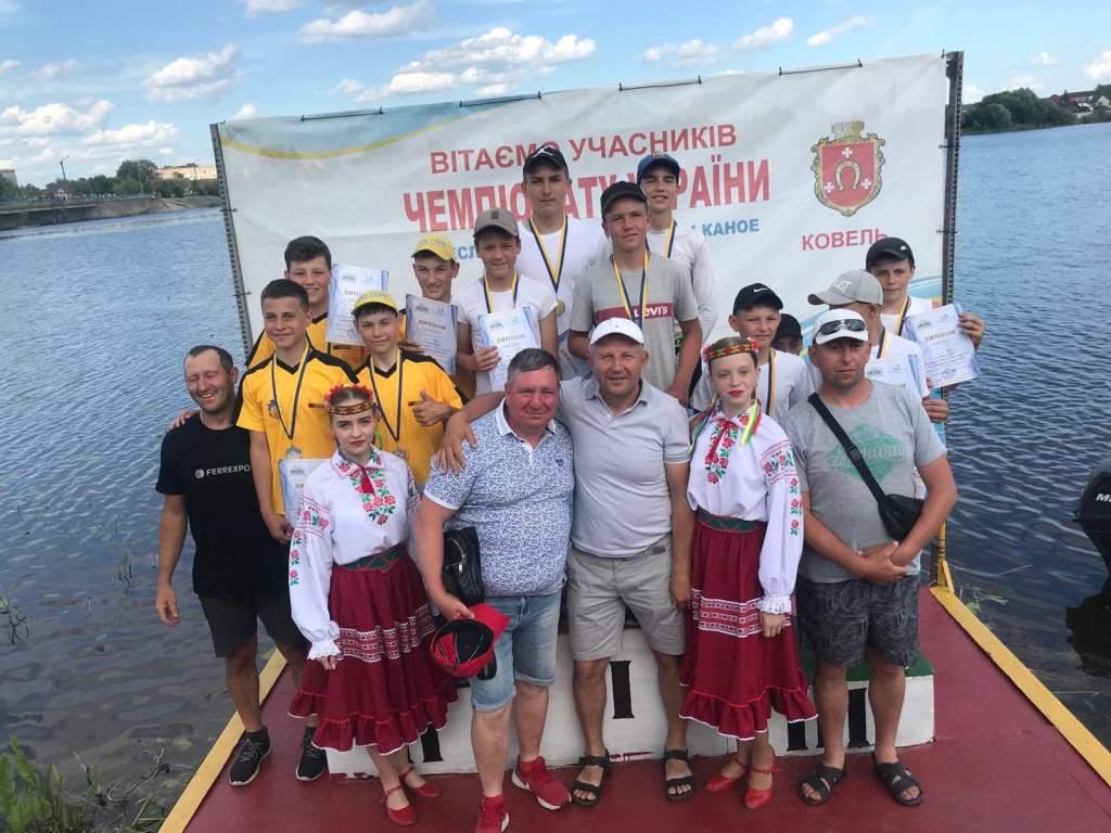 Волинські веслувальники здобули шість золотих медалей відкритого чемпіонату України