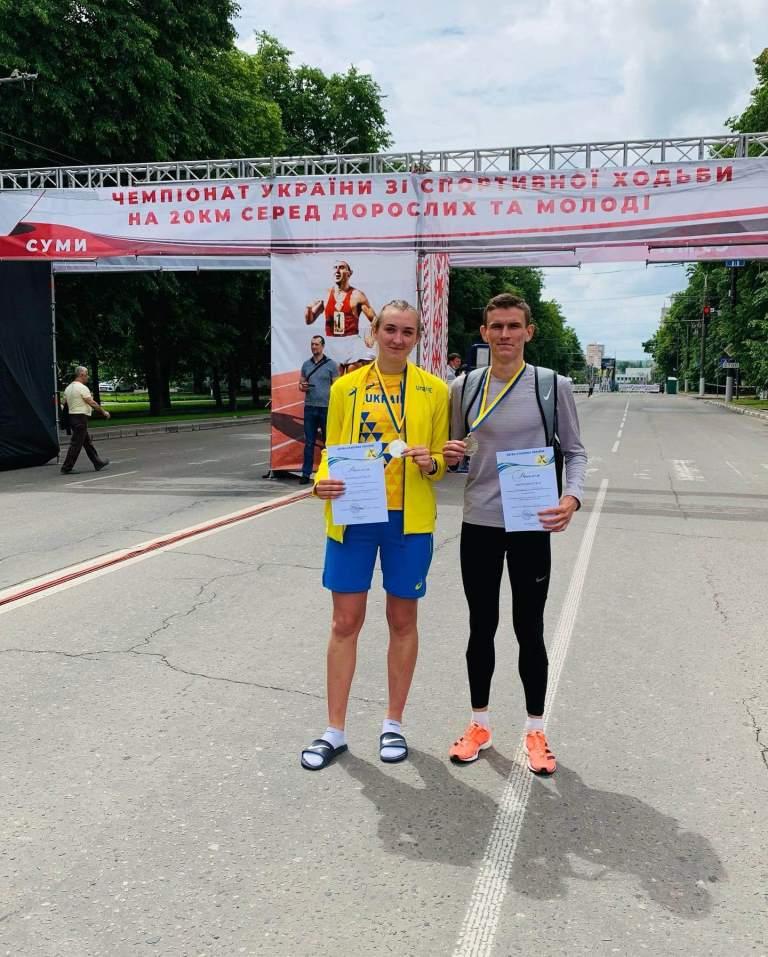 Волиняни здобули чотири срібні медалі чемпіонату України зі спортивної ходьби