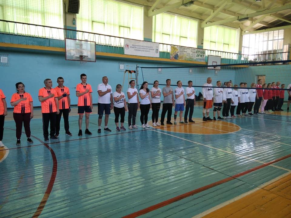 Нововолинські освітяни змагаються у волейбольному турнірі