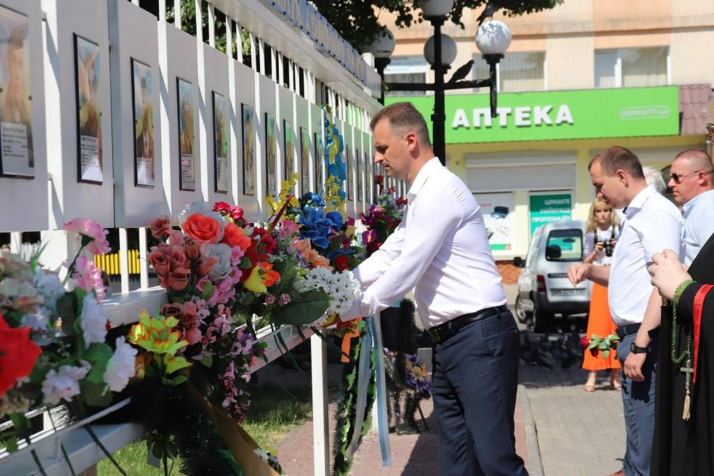 У Володимирі-Волинському організували заходи з нагоди Дня скорботи і вшанування пам'яті жертв війни в Україні