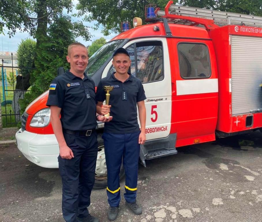 Рятувальники з Нововолинська перемогли в обласних змаганнях з пожежно-прикладного спорту