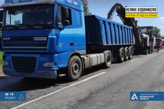 На Волині ремонтують відрізок автошляху до українсько-білоруського кордону
