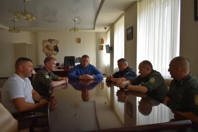 Погуляйко зустрівся із новопризначеним начальником Луцького прикордонного загону