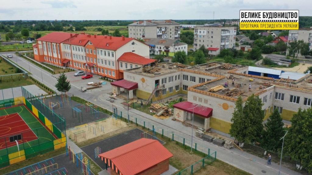 У селі на Волині розпочали реконструкцію приміщення старого корпусу НВК