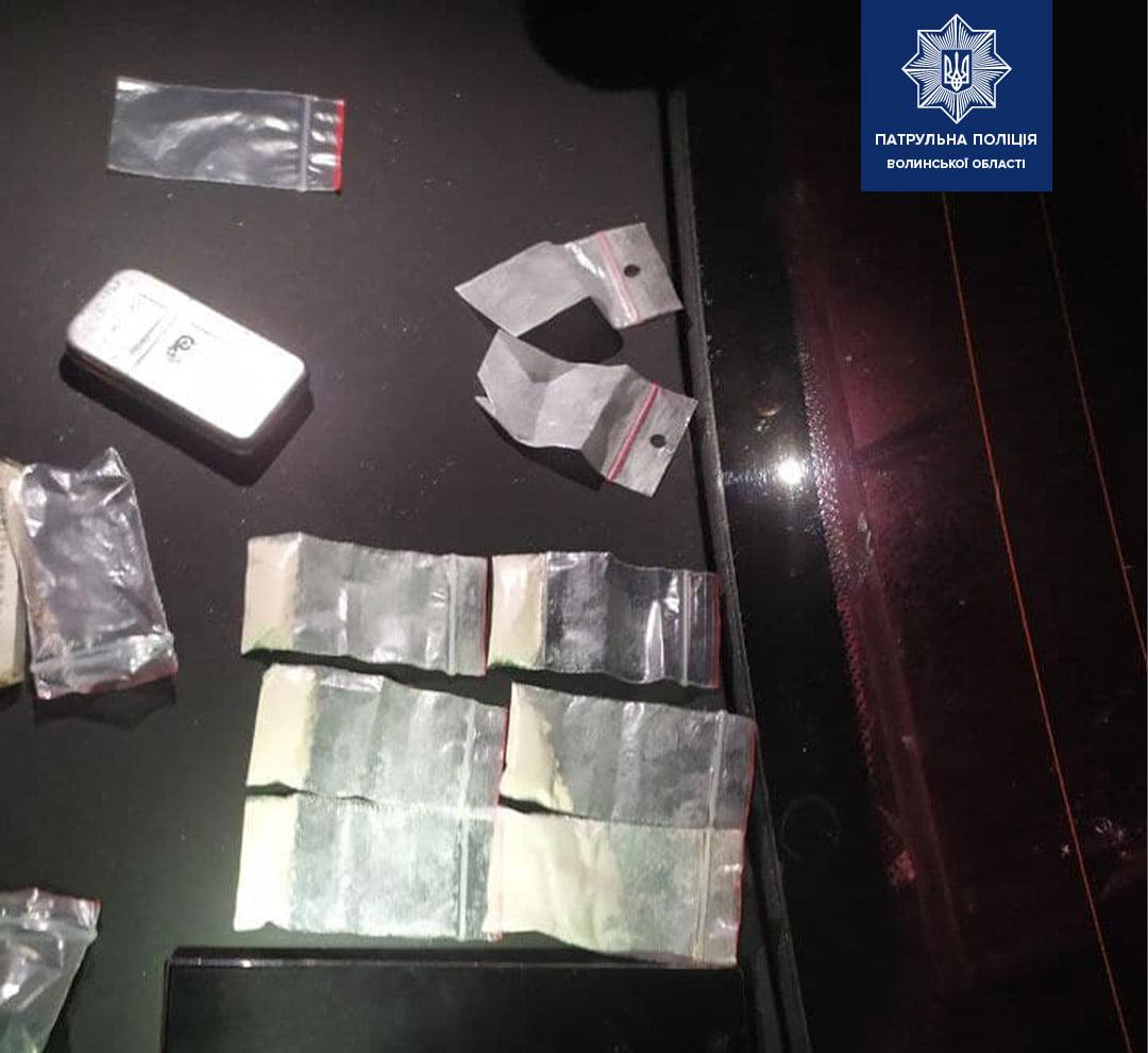 У Луцьку патрульні виявили двох осіб з наркотиками