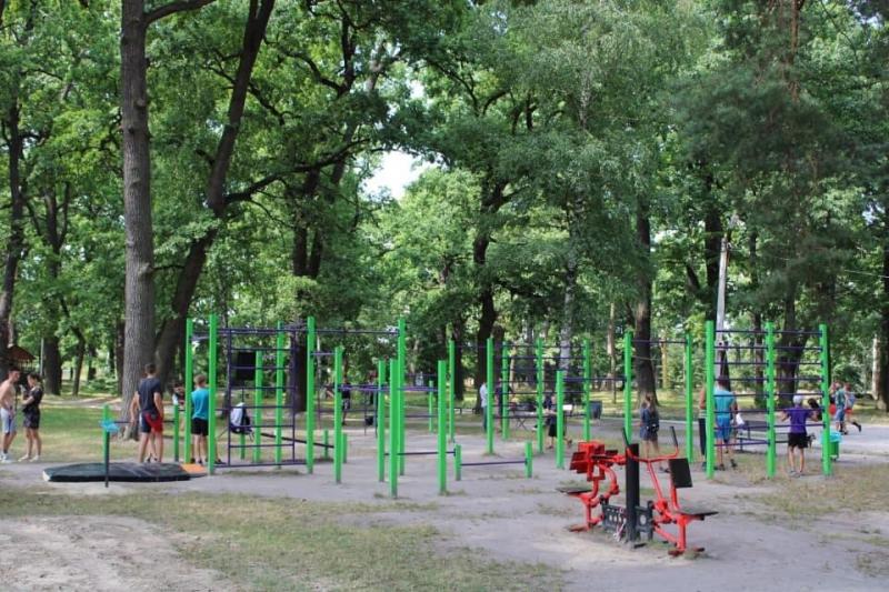 У міському парку Ківерців відкрили спортивну локацію
