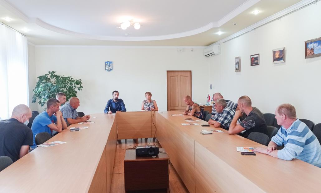 У Нововолинську учасникам АТО/ООС розповіли про можливість отримати 400 євро на навчання